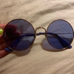 Trendy purple Ray Bans